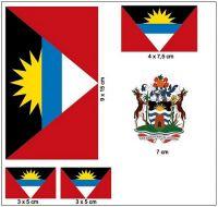 Fahnen Aufkleber Set Antigua & Barbuda