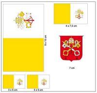 Fahnen Aufkleber Set Vatikan