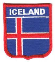 Wappen Aufnäher Fahne Island
