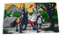 Fahne / Flagge Ritter mit Pferd Burg 90 x 150 cm
