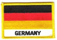 Fahnen Aufnäher Deutschland Schrift