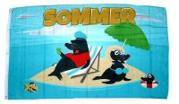 Fahne / Flagge Sommer Robben 90 x 150 cm