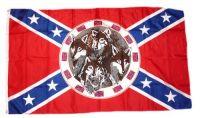 Fahne / Flagge Südstaaten - 4 Wölfe 90 x 150 cm