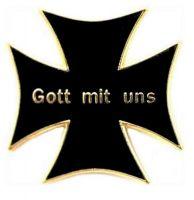 Pin Gott mit uns Eisernes Kreuz NEU Anstecknadel