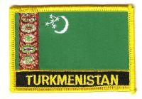 Fahnen Aufnäher Turkmenistan Schrift