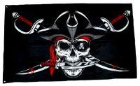 Fahne / Flagge Pirat Säbel Messer 90 x 150 cm