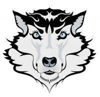 Aufkleber Sticker Wolfskopf
