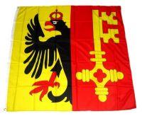 Fahne / Flagge Schweiz - Genf 120 x 120 cm