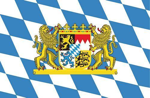 Fahnen Aufkleber Sticker Freistaat Bayern Löwen