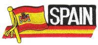 Fahnen Sidekick Aufnäher Spanien