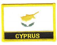 Fahnen Aufnäher Zypern Schrift