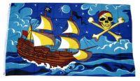 Fahne / Flagge Piratenschiff 90 x 150 cm
