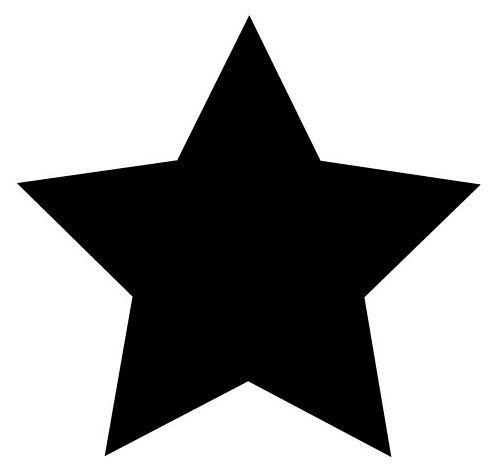 Aufkleber Sticker Stern schwarz