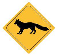 Aufkleber Sticker Achtung Fuchs Autoaufkleber