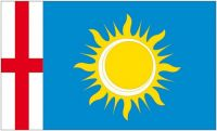 Fahne / Flagge Italien - Provinz Mailand 90 x 150 cm