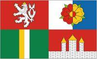 Fahne / Flagge Tschechien - Südböhmen 90 x 150 cm