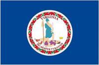 Fahnen Aufkleber Sticker USA - Virginia