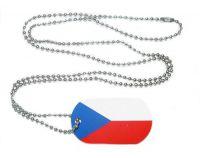 Erkennungsmarke Tschechien Dog Tag 30 x 50 mm Fahnen Flaggen