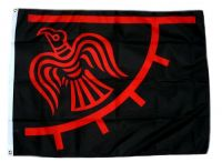 Fahne / Flagge Wikinger Odinic Raven 90 x 150 cm