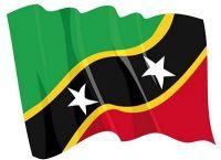 Fahnen Aufkleber Sticker St. Kitts & Nevis wehend