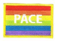 Fahnen Aufnäher Regenbogen - Pace