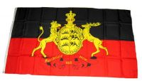Fahne / Flagge Württemberg Furchtlos und Treu 150 x 250 cm
