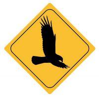 Aufkleber Sticker Achtung Adler Autoaufkleber