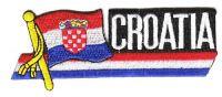 Fahnen Sidekick Aufnäher Kroatien