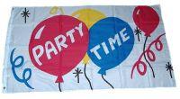 Fahne / Flagge Party Time 150 x 250 cm