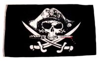 Fahne / Flagge Pirat blutiger Dolch 90 x 150 cm
