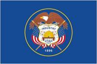 Fahnen Aufkleber Sticker USA - Utah