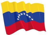 Fahnen Aufkleber Sticker Venezuela wehend