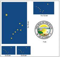 Fahnen Aufkleber Set USA - Alaska