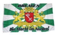 Fahne / Flagge Bremen Die Macht im Norden 90 x 150 cm