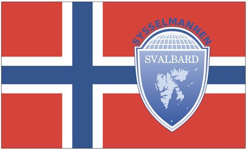 Fahne / Flagge Norwegen - Spitzbergen 90 x 150 cm