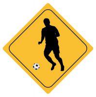 Aufkleber Sticker Achtung Fussball Autoaufkleber