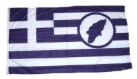 Fahne / Flagge Griechenland - Rhodos 90 x 150 cm