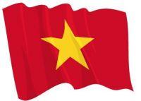 Fahnen Aufkleber Sticker Vietnam wehend
