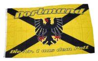 Fahne / Flagge Fußball Dortmund Kreuz 150 x 250 cm
