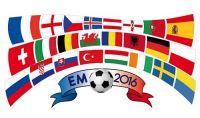 Fahnenkette EM 2016 Frankreich 24 Teilnehmer 6,9 m