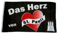 Fahne / Flagge Reeperbahn Herz von St. Paul 90 x 150 cm