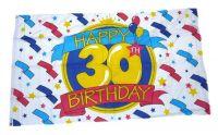 Fahne / Flagge Happy Birthday 30. Geburtstag 90 x 150 cm