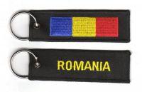 Fahnen Schlüsselanhänger Rumänien