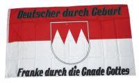 Fahne / Flagge Franke durch die Gnade Gottes 90 x 150 cm