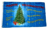 Flagge / Fahne Frohe Weihnachten Tannenbaum 90 x 150 cm