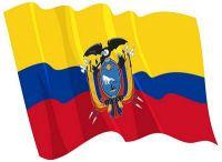 Fahnen Aufkleber Sticker Ecuador wehend