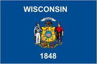 Fahnen Aufkleber Sticker USA - Wisconsin