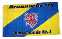 Fahne / Flagge Braunschweig Nr. 1 Fan 90 x 150 cm