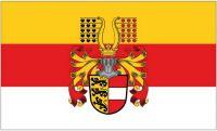 Fahne / Flagge Österreich - Kärnten Prachtwappen 90 x 150 cm