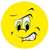 Aufkleber Sticker Smile böse